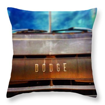 Dodge In Town Throw Pillow