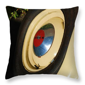 Dodge Tire Throw Pillow by Rob Hans