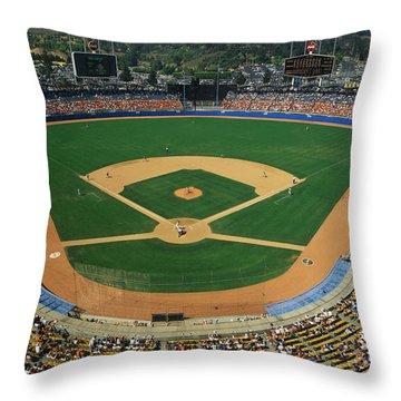 Dodger Stadium Throw Pillow
