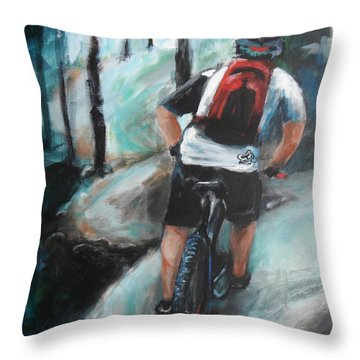 Dodging Trees Throw Pillow