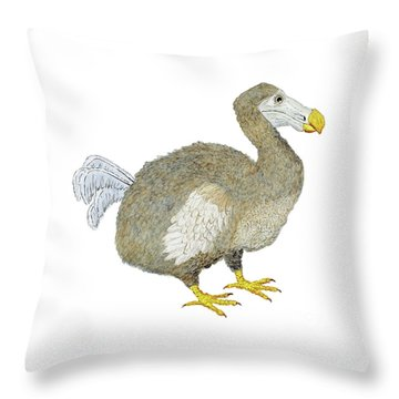 Throw Pillow featuring the painting Dodo Bird Protrait by Thom Glace