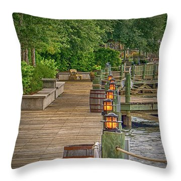 Down By The Boardwalk Throw Pillow