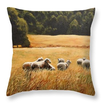 Does My Bum Look Big In This Paddock? Throw Pillow