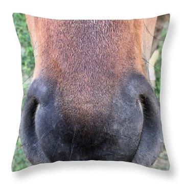 Big Nose  Throw Pillow