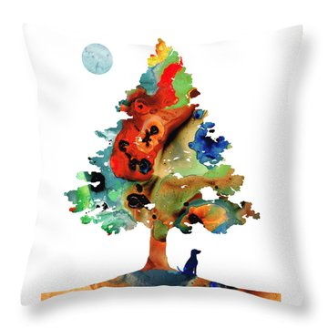 Dog Art - Contemplation 2 - By Sharon Cummings  Throw Pillow by Sharon Cummings
