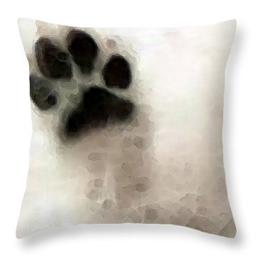 Dog Art - I Paw You Throw Pillow by Sharon Cummings