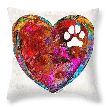 Dog Art - Puppy Love 2 - Sharon Cummings Throw Pillow