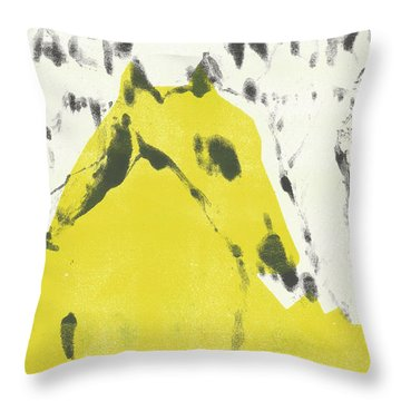 Dog At The Beach - Black Ivory 2 Throw Pillow