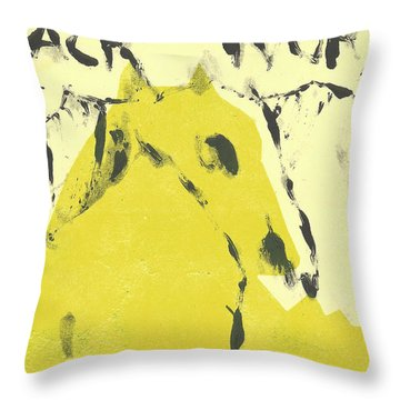 Dog At The Beach - Black Ivory 4 Throw Pillow
