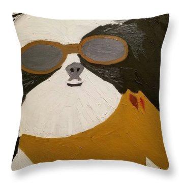 Dog Boss Throw Pillow by J Cv