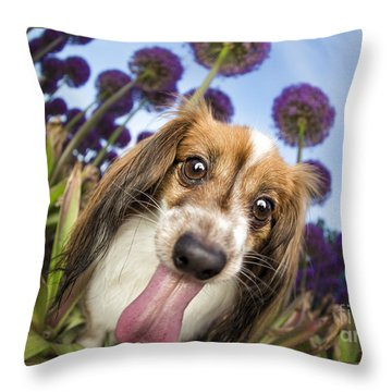 Dog Breath Throw Pillow