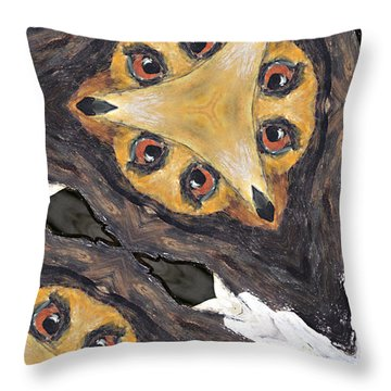 Dog Chair #4 Throw Pillow by Peter J Sucy