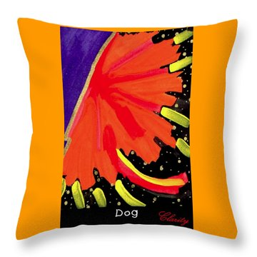 Throw Pillow featuring the painting Dog by Clarity Artists