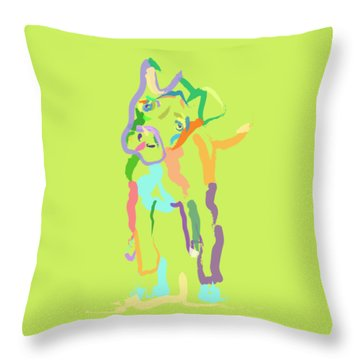 Throw Pillow featuring the painting Dog Cookie by Go Van Kampen