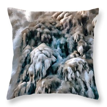 Dog Falls Throw Pillow