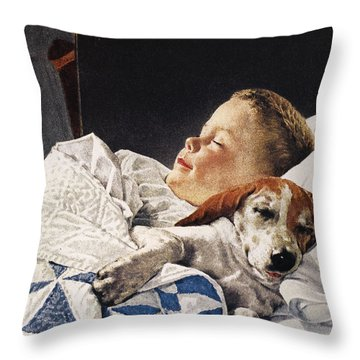 Dog Food Ad, 1956 Throw Pillow by Granger