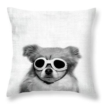 Goggles  Throw Pillow