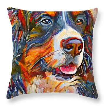 Dog In Colors Throw Pillow