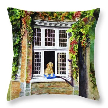 Dog In The Window Throw Pillow