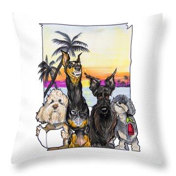 Dog Island Getaway Throw Pillow