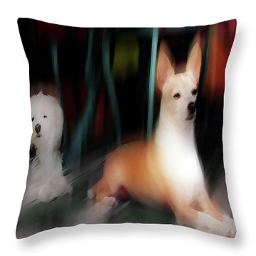 Dog Love Art 5 Throw Pillow