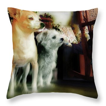 The Real Chiqui And Heichel Throw Pillow