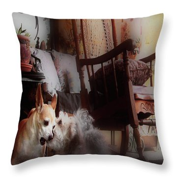 Dog Love Art  Throw Pillow