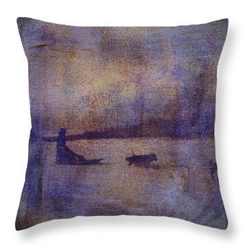 Dog Musher Throw Pillow