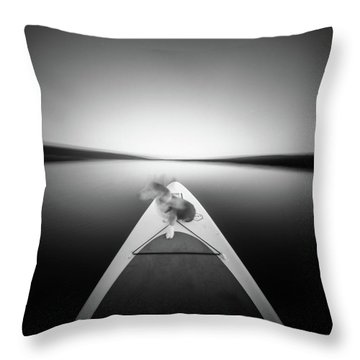 Throw Pillow featuring the photograph Dog On Sup - Pinhole Photo by Will Gudgeon