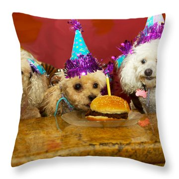 Dog Party Throw Pillow