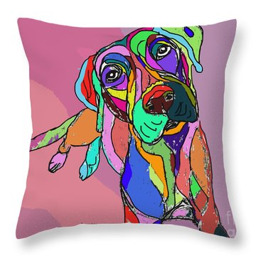 Dog Sketch Psychedelic  01 Throw Pillow