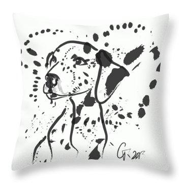 Dog Spot Throw Pillow