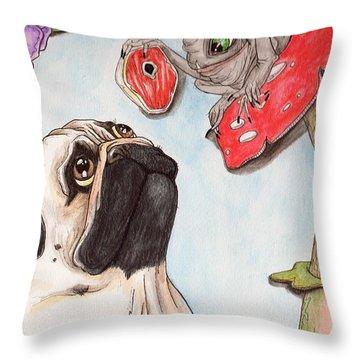 Dog Treat Throw Pillow
