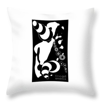 Dog Tricks Poodle Throw Pillow