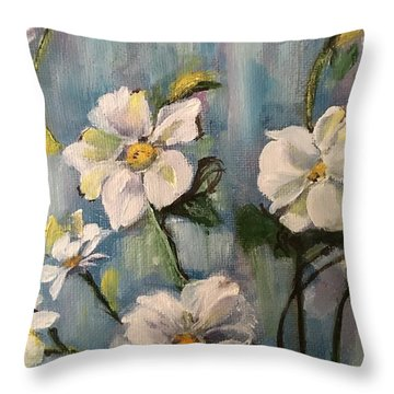 Dog Wood Throw Pillow