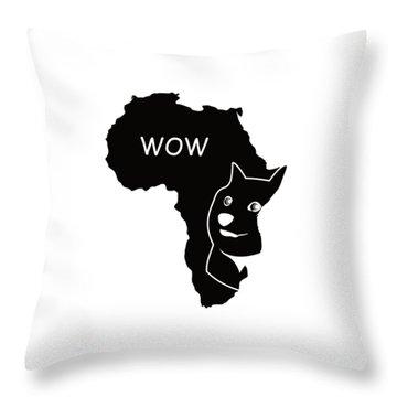Dogecoin In Africa Throw Pillow by Michael Jordan