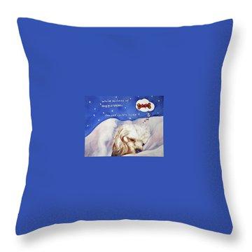 Doggie Dreams Throw Pillow