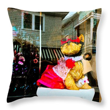 Doggie In The Window Throw Pillow