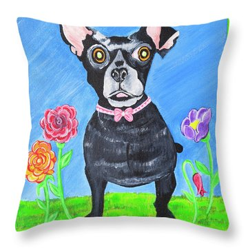 Doggone Delightful Throw Pillow