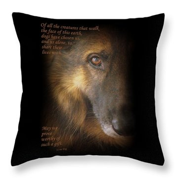 Dogs Chose Us Throw Pillow