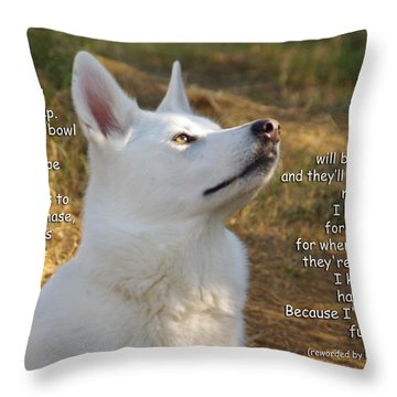 Dog's Prayer Now I Lay Me Down To Sleep Throw Pillow by Robyn Stacey
