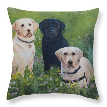 Dogs With Wings Throw Pillow