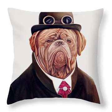 Animals In Clothes Throw Pillows