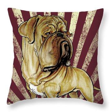 Dogue De Bordeaux Revolution Throw Pillow