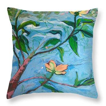 Dogwood Throw Pillow by Allison Coelho Picone