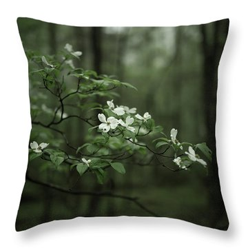 Throw Pillow featuring the photograph Dogwood Branch by Shane Holsclaw