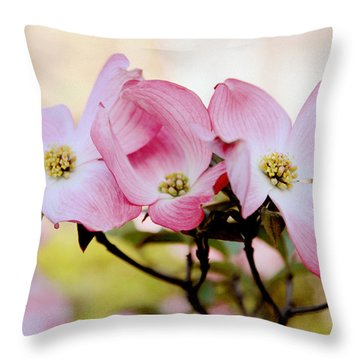 Dogwood Dance Throw Pillow