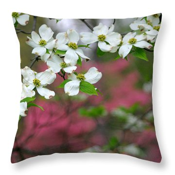 Dogwood Days Throw Pillow