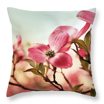 Dogwood Dreams Throw Pillow