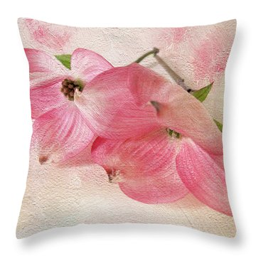 Dogwood Duo Throw Pillow